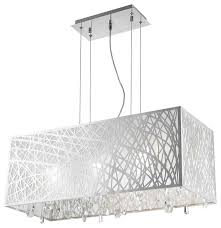 Drum Shade Chandelier Lighting Rectangular Drum Shade Chandelier
