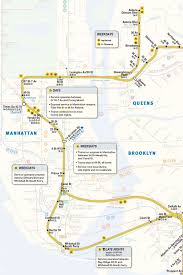 Manhattan Map Subway by Mta Info Nqrw Guide