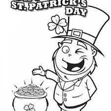 a head figure of leprechaun on st patricks day coloring page