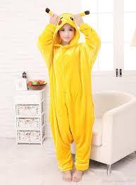2017 new sale yellow pikachu dress lovely cheap pajamas anime