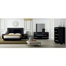 volare modern 5 pc bedroom set black at home usa modern manhattan