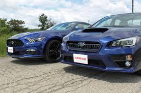 subaru evo 8 2015 ford mustang ecoboost vs subaru wrx autoguide com news