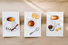 fun and easy watercolors draw a beautiful coffee illustration