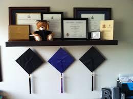 graduation cap frame shelf wall wood display shelves rack coat hat college storage