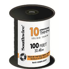 The Home Technology Store Southwire 100 Ft 10 Black Stranded Cu Thhn Wire 22973237 The