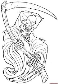 nightmares grim reaper joker tattoos outline