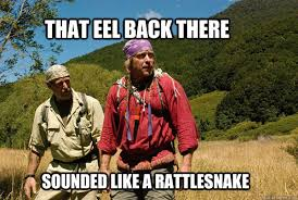 Survival Memes - that eel back there sounded like a rattlesnake dual survival