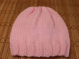 how to knit a newborn baby u0027s hat for beginners youtube