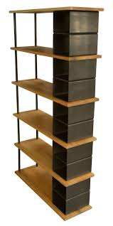 custom made metal storage cabinets custom made large wood and metal industrial bookshelf furnishings