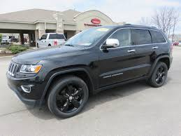 jeep cherokee black 2015 2015 jeep grand cherokee limited 4x4 20 black premium rims