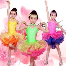 kids samba aliexpress buy bright color stage performance costumes