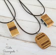 wood pendant necklace images Boho necklace pendants from vintage wooden tennis rackets jpg