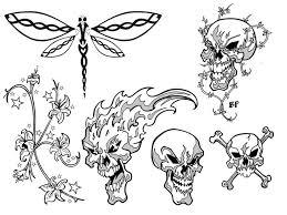 simple tribal skull tattoo designs tattoo designs pattern clip