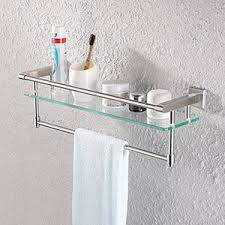 Bathroom Glass Shelves With Towel Bar Kes A2225 2 Sus304 Stainless Steel Bathroom Glass