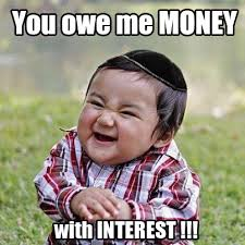 Funny Jewish Memes - evil baby you owe me money