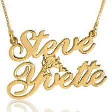 Double Plated Gold Name Necklace Couples Necklaces Namefactory