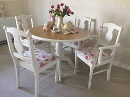 shabby chic round dining table top 50 shab chic round dining table and chairs home decor ideas uk
