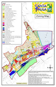 map of santa santa paula california planning zoning