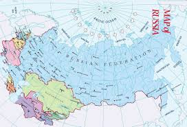 Russia And Central Asia Map by Russia Map