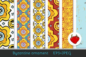 byzantine ornament patterns creative market
