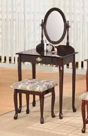 Vintage Style Vanity Table Amazon Com Vintage Style Vanity Make Up Set With Drawer Espresso