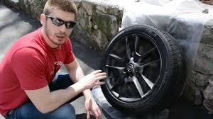 nissan altima oem wheels plasti dipping stock wheels matte black youtube