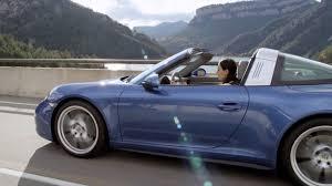 navy blue porsche convertible 2015 porsche 911 targa driving youtube