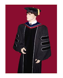 doctoral graduation gown academic regalia graduation cap and gowns