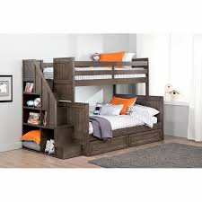 Staircase Bunk Beds Twin Over Full by Ryan Twin Over Double Bunk Bed With Universal Staircase Costco