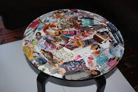 table basse touret bois customiser une table basse avec des photos u2013 phaichi com