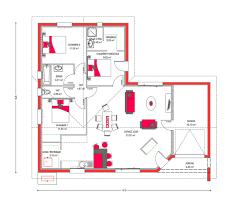 plan maison en u ouvert modèle de maison villa mae
