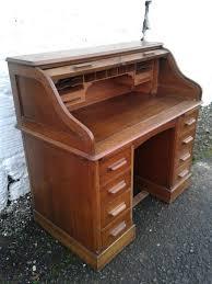 Oak Roll Top Secretary Desk by Lebus Edwardian Oak Roll Top Desk