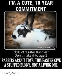 Cute Easter Meme - i m a cute 10 year commitment wwwnoahs arkorg 95 of easter