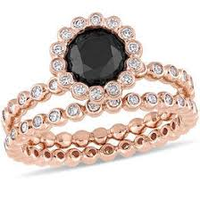 black gold engagement ring black diamonds collections zales
