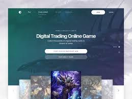 Trading Card Designer Digital Trading Card Game Landing Page Design By Sasha Turischev