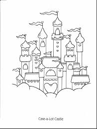 wonderful castle care bear coloring pages printable