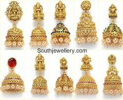 one gram gold jhumkis jewellery designs