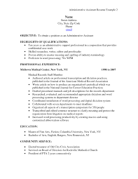 Administrative Assistant Resume Template Word Resume Example Administrative Assistant Resume Example For Legal