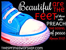 beautiful feet preach gospel peace