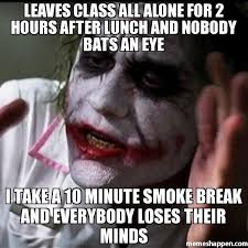All Alone Meme - leaves class all alone for 2 hours after lunch and nobody bats an