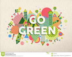 design logo go green go green quote poster design background stock vector illustration