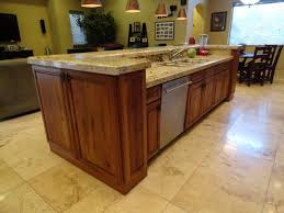 ceramic tile countertops kitchen island with dishwasher lighting
