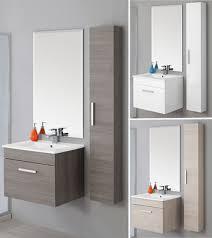 armadietto bagno con specchio arredobagno magenta 60 sospeso con colonna in omaggio br