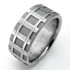 Titanium Wedding Rings by Denver Titanium Ring With Railroad Tracks Titanium Wedding Rings