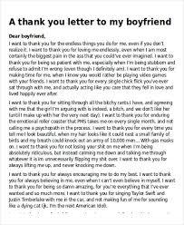 boyfriend thank you letter sample long romantic love letter to