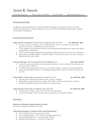 Resume Sample Business Administration by Business Professional Report Example