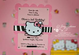 2nd Birthday Invitation Card Hello Kitty Birthday Invitations Invitations Templates