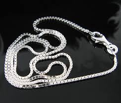 silver box necklace images New 925 polished sterling silver 1 30mm box chain necklace jpg