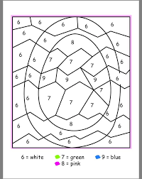 easter coloring pages numbers easter color by numbers school easter pinterest