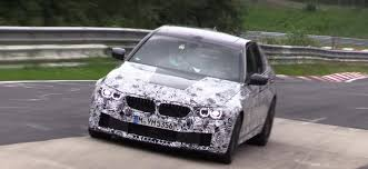 2018 bmw f90 m5 spied at the nurburgring stays in shape with awd